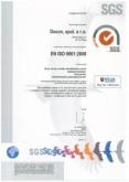 Certifikát manažérstva kvality ISO 9001:2008