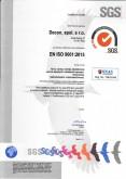 Certifikát manažérstva kvality ISO 9001:2015